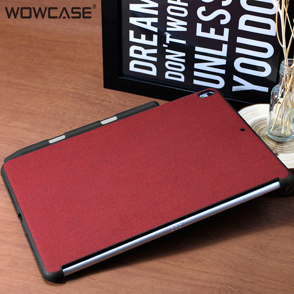 WOWCASE Business Cover for iPad Pro 10.5 Case with Pencil Holder Slim Microfiber Protection For iPad Pro 10.5 Air 3 2019 Coque image