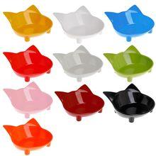 Кормушка-миска для домашних питомцев, нескользящая собачка, кошка, щенок, котенок, посуда для питья, воды, в форме кошки, милая посуда