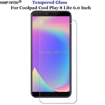 Перейти на Алиэкспресс и купить Для Coolpad Cool Play 8 Lite закаленное стекло 9H 2.5D Премиум-защита экрана Взрывозащищенная пленка Coolpad Cool Play 8 Lite 6,0дюйм
