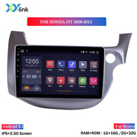 Android 8.1 car dvd gps multimedia player 10 INCH For Honda FIT 2008 2013 RHD car dvd navigation radio video audio player