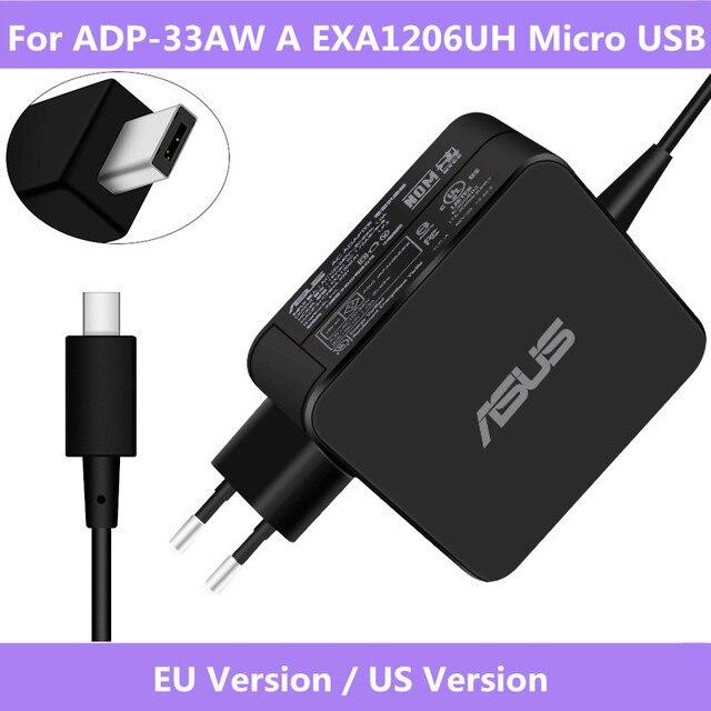 Оригинальное зарядное устройство для ASUS X205T X205TA, 19 в, 1,75 А, 33 Вт, для ноутбука EXA1206UH, с Micro USB входом
