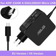 Dla ADP 33AW W EXA1206UH wejście Micro USB 19V 1.75A 33W do laptopa AC oryginalny zasilania ładowarka dla ASUS X205T x205TA ładowarka