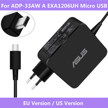 For ADP 33AW A EXA1206UH Micro USB Input 19V 1.75A 33W AC Laptop  Original Power Charger For ASUS X205T X205TA Supply Charger