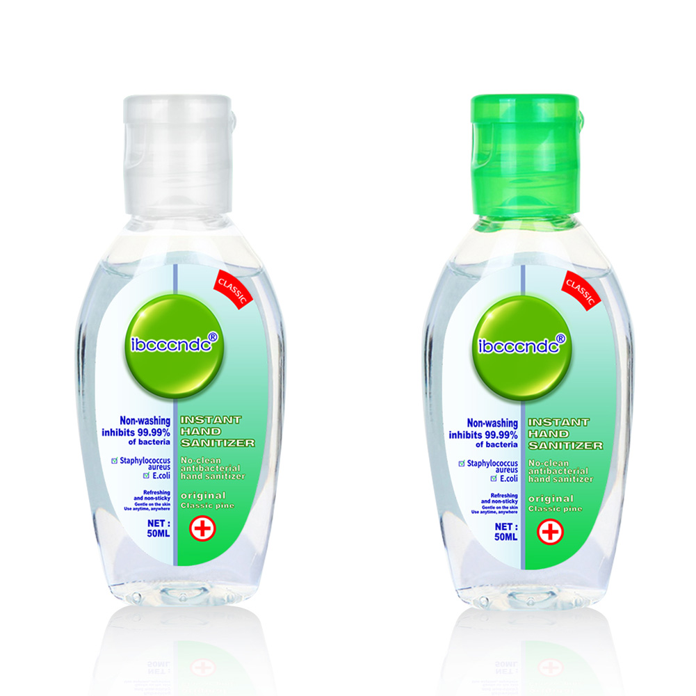 2Pcs 50ml Travel Portable Hand Sanitizer Gel Anti-Bacteria Moisturizing Liquid Disposable No Clean WaterlessHand Gel