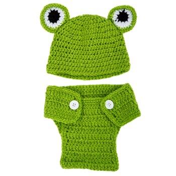 Kids Handmade newborn Baby infant boy prince Girl Costume Animal Beanie photography Props Set Crochet Cloth knitted caps & hats- недорого