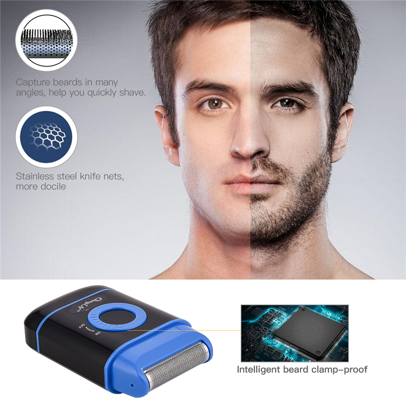 Portable Electric Shaver Men Razor Pop-up Temples Trimmer Beard Trimmer Mini Beard Trimmer Battery Powered Shaving Machine 45