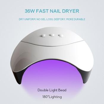 Professional Manicure Set With UV LED Lamp Nail Gel Polish Kit Soak Off Electric Nail Drill Machine Kit Complete Nail Art Tools 2
