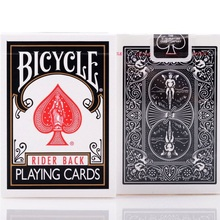 1pcs Bicycle Classic Black Deck Magic Cards Playing Card Poker Close Up Stage Magic Tricks for Professional Magician Free Ship