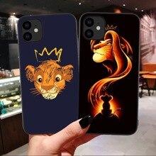 Король Лев nala Simba timon мягкий черный чехол для телефона для iPhone 11 Pro Max 6 6s Plus 7 8 plus X XS Max XR King Coque