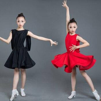 New Latin Dance Dress Girls Children Kids Latin Dance Practice Clothes Performance Clothing Ballroom Competition Dresses SL2361