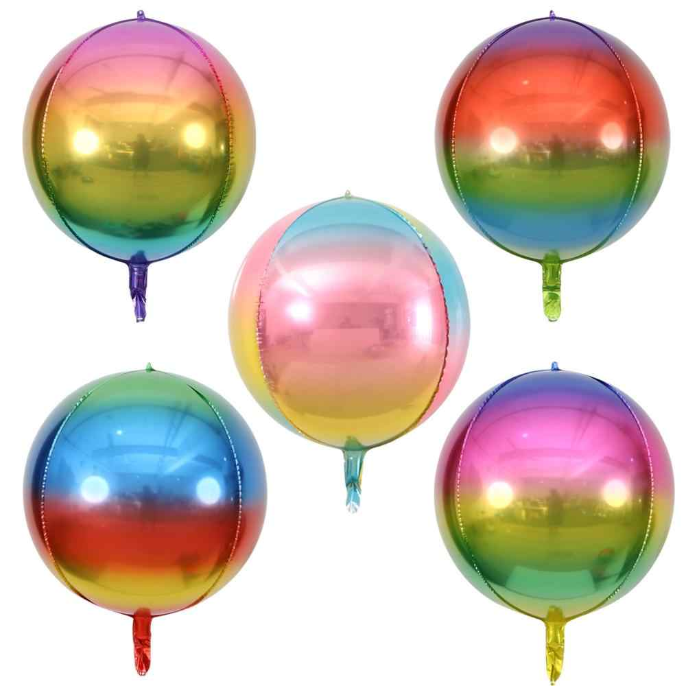 1PC New Hot Wedding Baby Shower Gradient Color Inflatable 4D Foil Balloon