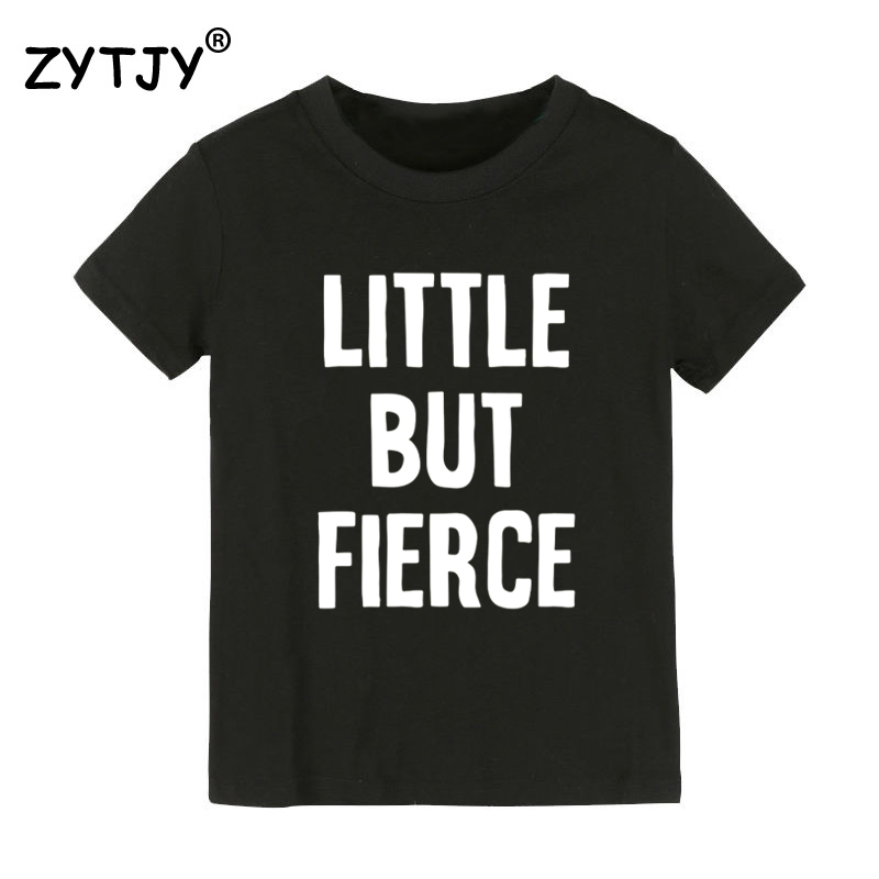 Little But Fierce Print Kids tshirt Boy Girl t shirt For Children Toddler Clothes Funny Tumblr Top Tees CZ-102 image