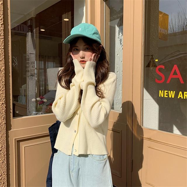 Новые женские вязаные кардиганы осень зима корейский Свободный
