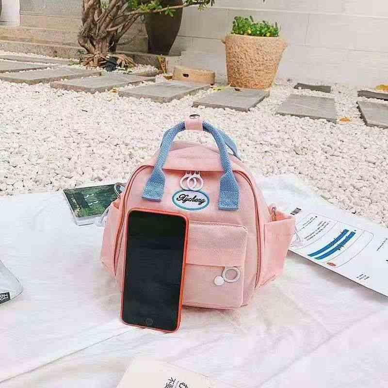 Desain Ransel Berkualitas Tinggi Tahan Air Multi-Fungsional Ransel Wanita Tas Bahu Kanvas Mini Cute Ransel