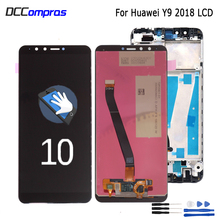 For Huawei Y9 2018 LCD Display Touch Screen Digitizer Assembly FLA L22 LX2 LX1 LX3 For Huawei Y9 2018 LCD With Frame Repair Part цена 2017