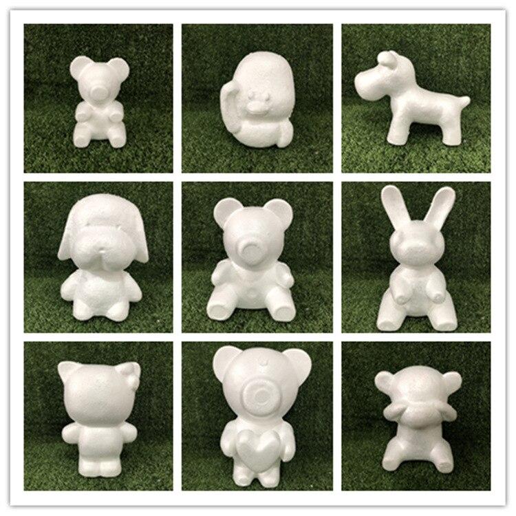 13 stil Modellierung Polystyrol Styropor Schaum Bär Weiß Handwerk Bälle PE Rose für DIY Weihnachten Party Dekoration Lieferungen Geschenke
