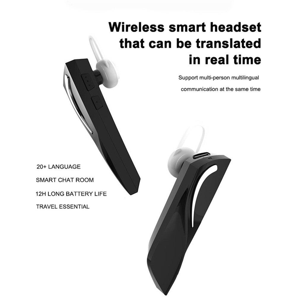 Premium 26 Languages Smart Voice Translator Bluetooth Wireless Translation Headsets Black