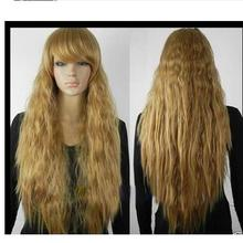 zhaoxia++01438@Q8++New wig Cosplay Brown very hot Long Heat