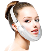 V-Line Up Lift Belt Machine Red  LED Photon Therapy Face Slimming Vibration Massager Facial Lifting Device Reduce Double Chin V-