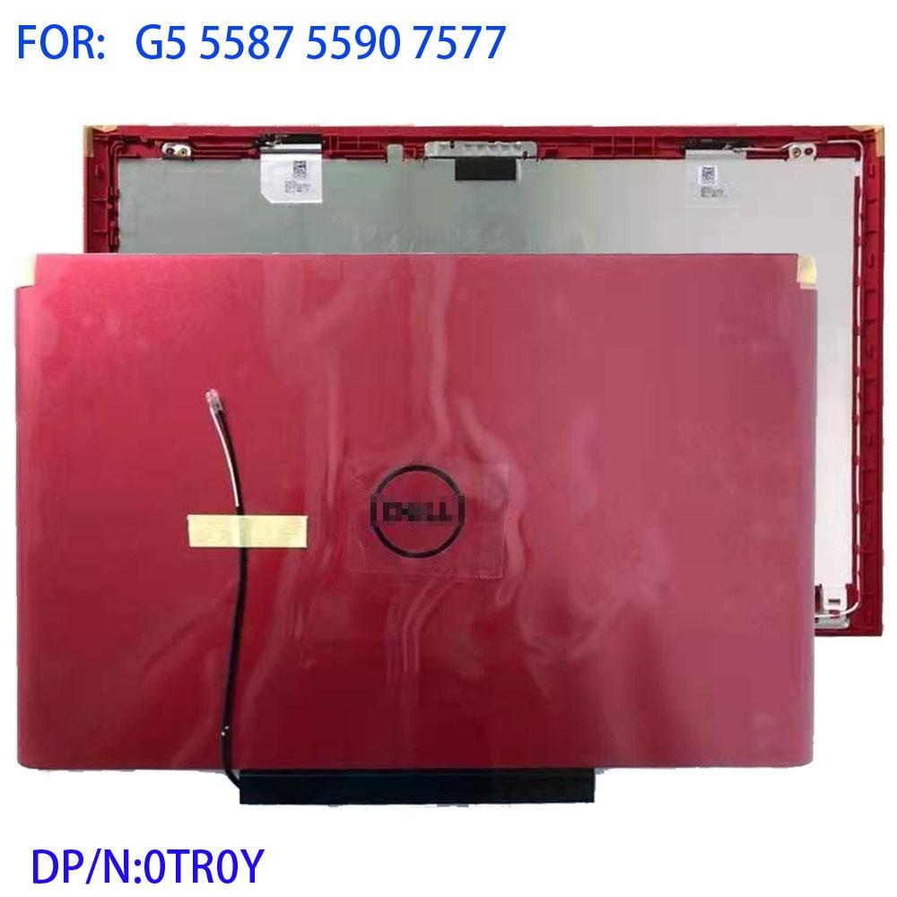 Cubierta trasera LCD para Dell G5 5587 5590 7577, carcasa nueva de marca dorada, material metálico, 0TR0Y