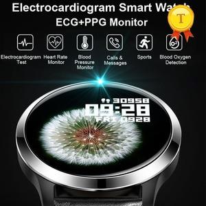 Image 1 - أفضل بيع ecg ppg smartwatch الرجال النساء IP68 وريستباند ضد الماء relogio معدل ضربات القلب النوم مراقبة الرياضة ساعة ذكية