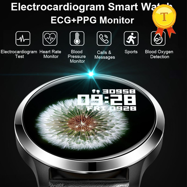أفضل بيع ecg ppg smartwatch الرجال النساء IP68 وريستباند ضد الماء relogio معدل ضربات القلب النوم مراقبة الرياضة ساعة ذكية