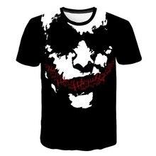 Новая горячая Клоун футболка для мужчин/wo мужчин джокер лицо 3D печатных террор модные футболки