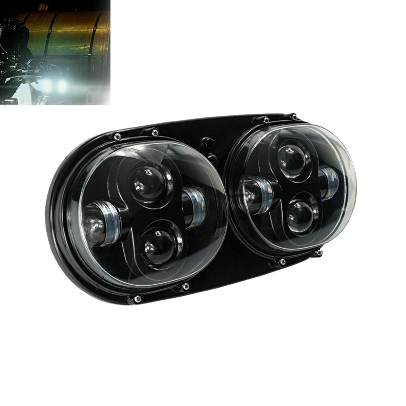 7 Inch LED Motorcycle Headlight 32V Double Headlights Motorcycles Modified Light for Harley Road Glide 04 13