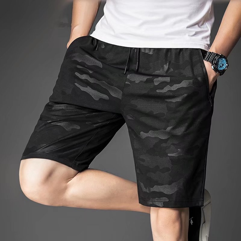 New Style Summer Thin Section Casual Shorts Camouflage Pants Sweatpants Teenager Middle School Students Sports Shorts Men's