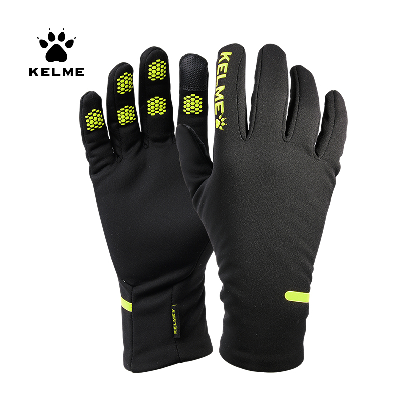 KELME Soccer Gloves Touch Screen Driver Sports Winter Outdoor For Male Warm Gloves 9886405