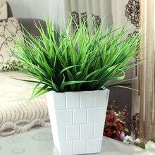 1 шт. искусственные 7 вилка зеленая трава растения поддельные пластиковые бытовые офисные украшения
