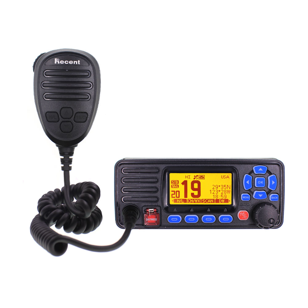 Recent RS-509MG 25W VHF 156.000-162.000MHz Fixed Marine Radio With GPS Walkie Talkie IP67 Waterproof Mobile Boat VHF Radio Stati
