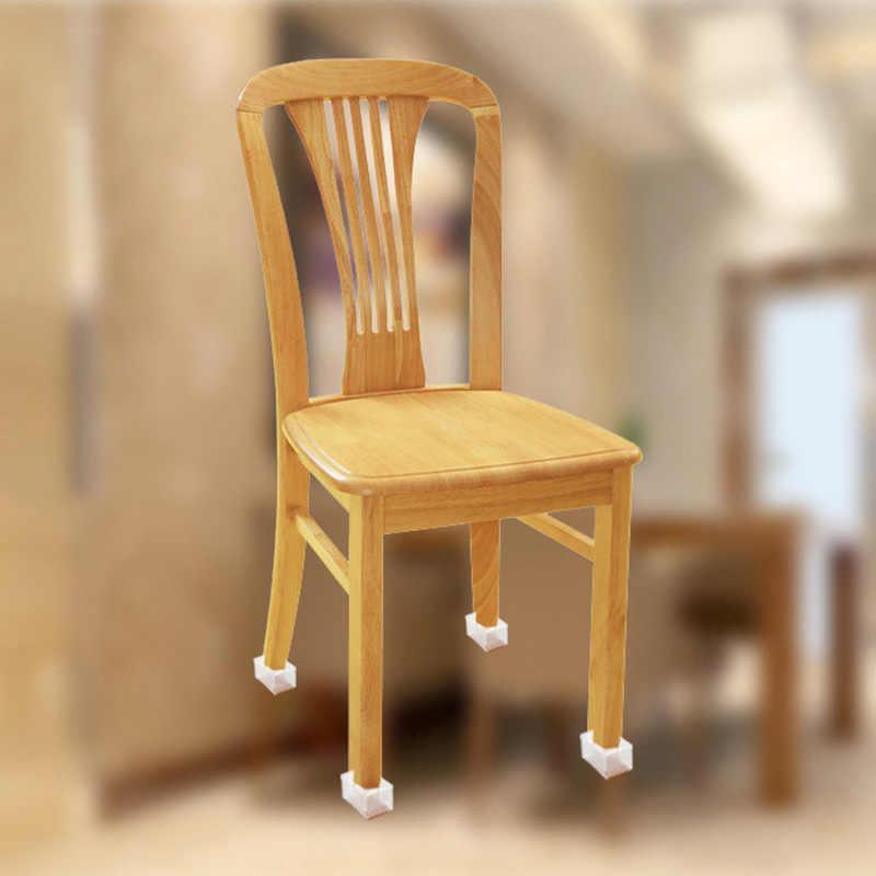 4 Uds gorros de pierna de silla para el hogar Almohadillas protectoras de pies de goma cubiertas de muebles para mesas calcetines tapones de agujero cubierta de polvo pies niveladores de muebles