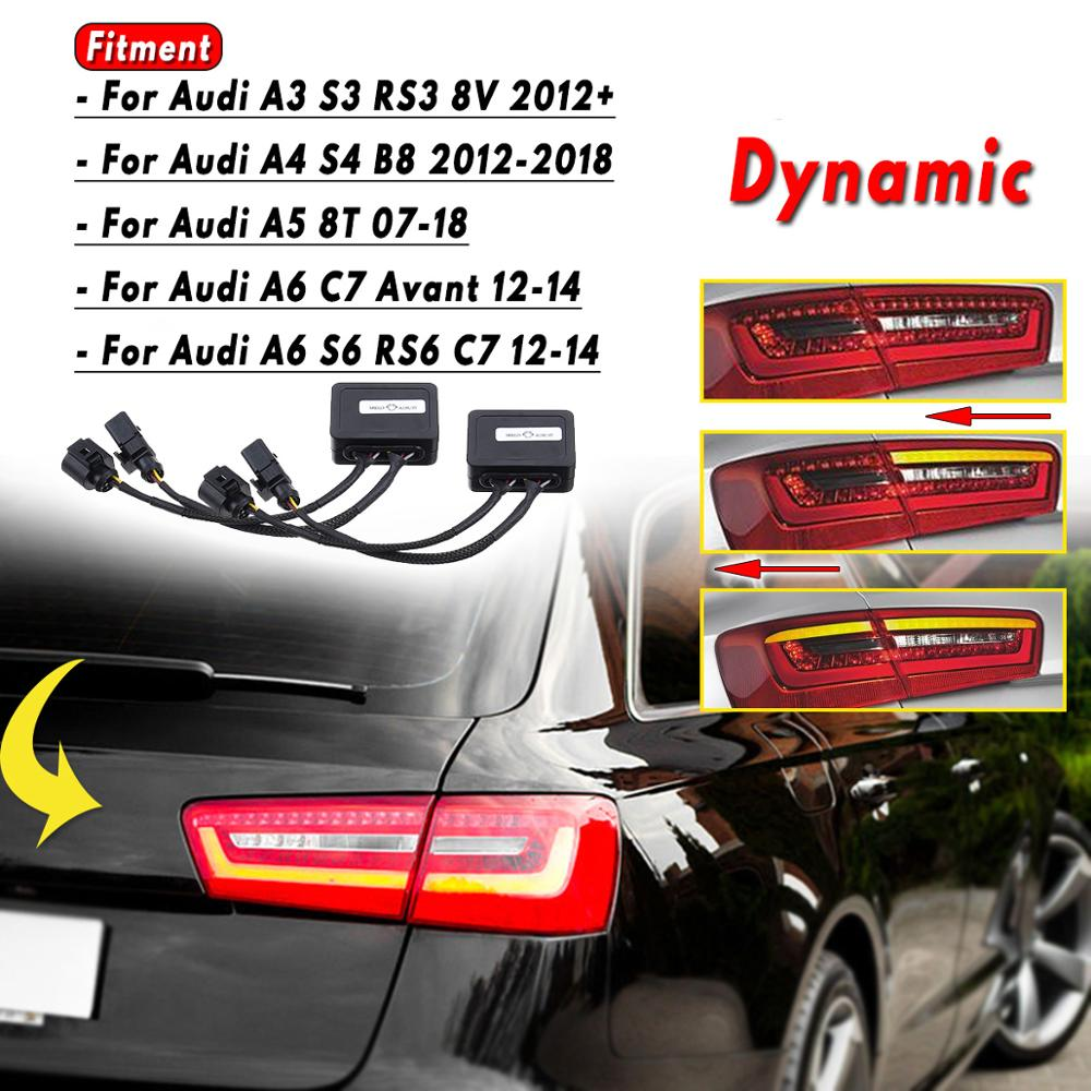 A Pair Limo Semi Dynamic Turn Signal Indicator For LED Taillights For Audi A6 S6 RS6 C7 Avant A5 8T A3 S3 RS3 8V
