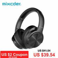 Mixcder E9 Aktive Noise Cancelling Wireless Bluetooth Kopfhörer 30 stunden Spielzeit Bluetooth Headset mit Super HiFi Tiefe Bass