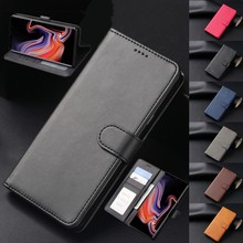 Leather case For Samsung Galaxy Note 10 9 S20 Ultra S10 S9 S8 Plus A10 A20 E A40 A70 A30 A50S A90 A80 A51 A71 Flip Wallet cover(China)