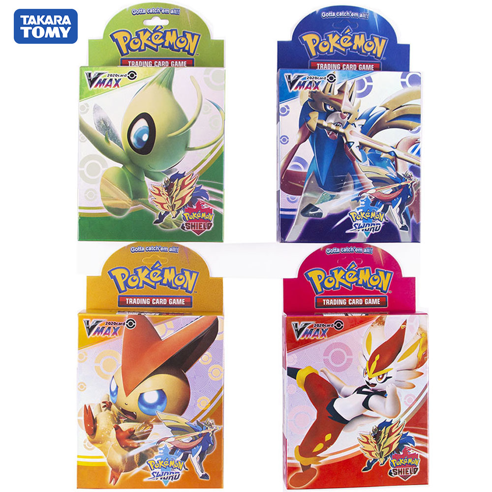 2020New Pokemon Cards Sword And Shield A Box Of Fifty New Cards High Quality Game Card Collection