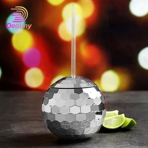 Новый диско-шар DEOUNY, бокал для вина, коктейльное стекло, вечерние бокалы, фонарик для ночного клуба, соломенная чашка для вина, кухонный обед...