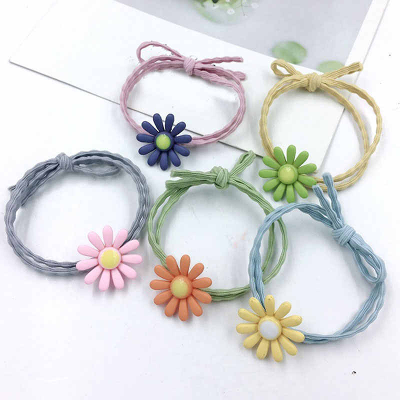 1PC New Girls Cute Flower Elastic Hair Bands Headwear Women Girls Scrunchies Rubber Bands Headbands Ladies Hair Accessories