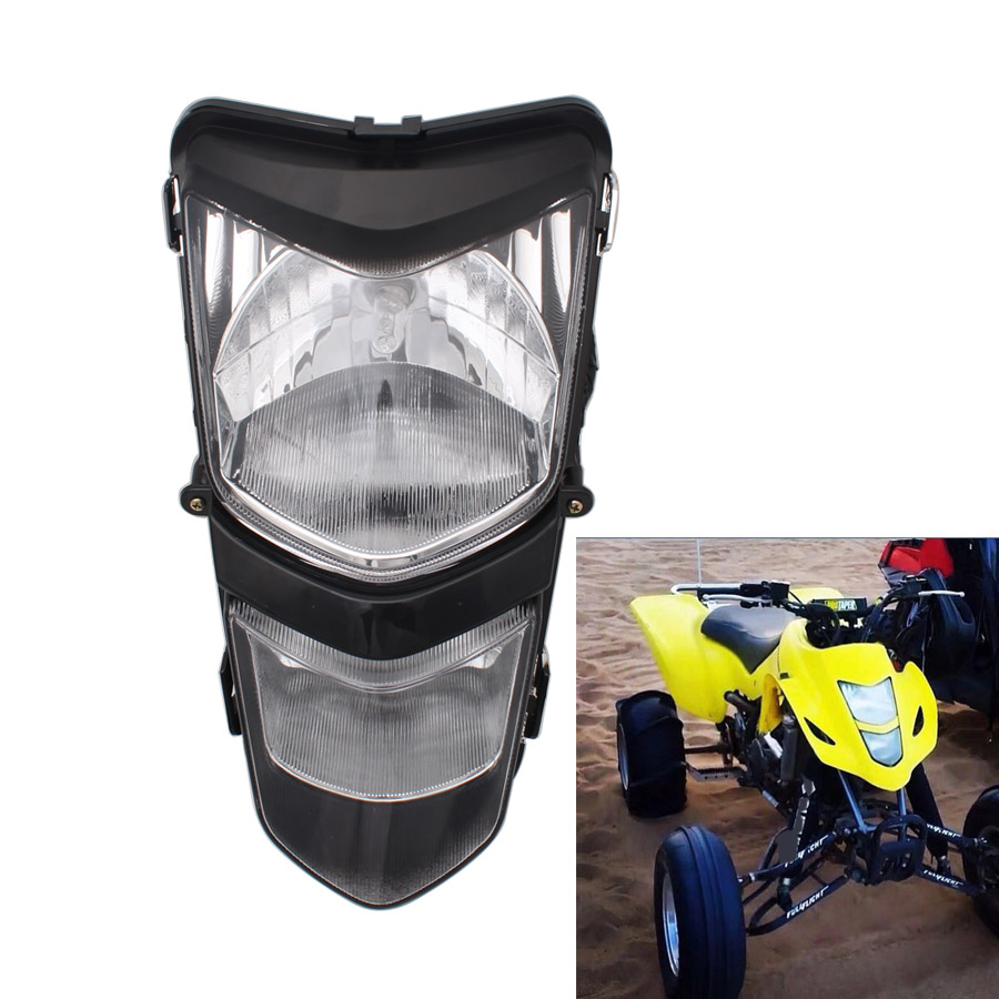 Motorcycle 12V/25W Headlight Dual Twin Headlamp For Suzuki ATV Quadsport LTZ 400 LT-Z400 LTZ400 2003-2008 2004 2005 2006 2007