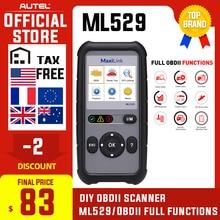 Autel Maxilink ML529 ماسح ضوئي تشخيصي أداة OBDII EOBD OBD2 السيارات فحص المحرك ضوء DIY خطأ رمز قارئ مع تعزيز الوضع 6