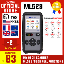 Outil de Diagnostic de Scanner Autel Maxilink ML529 OBDII EOBD OBD2 contrôle automatique moteur lumière bricolage lecteur de Code de défaut avec Mode amélioré 6