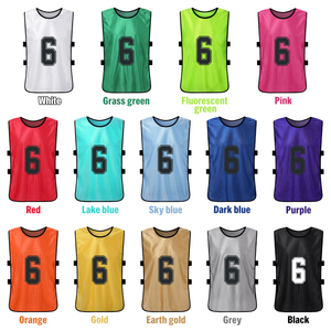 Image 4 - 12 PCS Adults Soccer Pinnies Quick Drying Football Team Jerseys Youth Sports Scrimmage Soccer Team Training Numbered Bibs