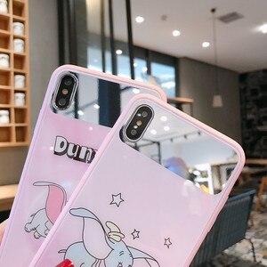 Image 3 - New mirrored gehärtetem glas telefon fall für iPhone X XS XR XSMax 8 7 6 6S PluS cartoon muster nette tropfen schutz abdeckung