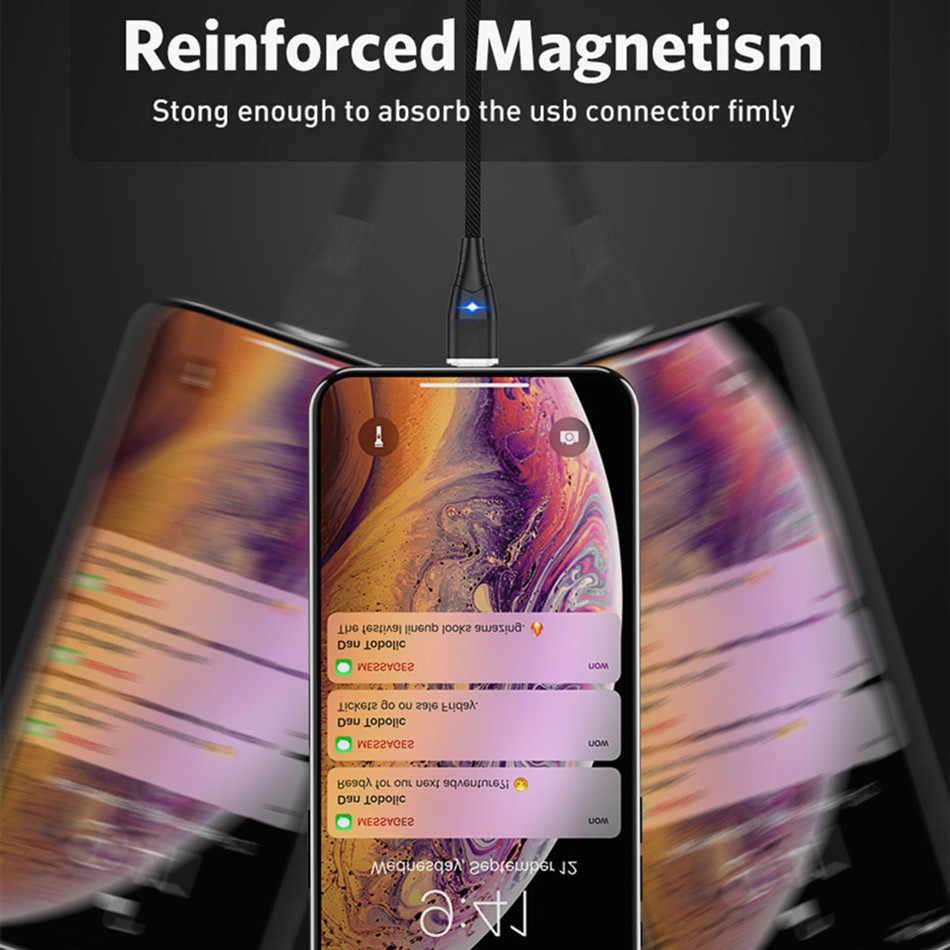 كابل مغناطيسي المصغّر usb نوع C محول الشحن السريع الهاتف مايكرو نوع C المغناطيس شاحن usb c آيفون سامسونج شاومي