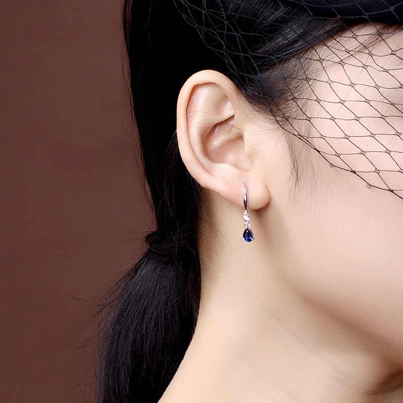 Bague Ringen Bạc 925 Trang Sức Bông Tai Sapphire Siver Hàn Quốc Tai Trang Sức Tím/Xanh/Vàng Màu Sắc Đảng Hẹn Hò Quà Tặng bán Buôn
