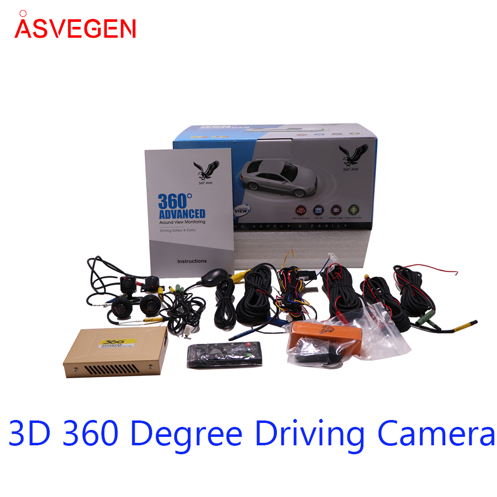 360 Degree Driving 3D HD Surround View Monitoring Newest Car Area View System Assistant System Cameras 4-CH DVR Recorder image