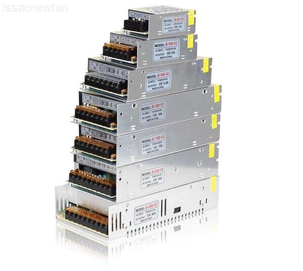 Преобразователь напряжения 5A 10A 20A 30A 12VAC/DC Max360W, Регулируемый переключатель питания светодиодный