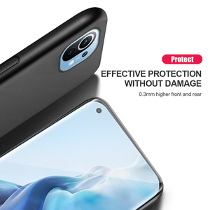 Image 3 - leather texture car magnetic holder phone case cover for xiaomi mi 11 lite 11lite mi11 light 5g silicone bumper shockproof coque