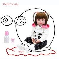 Bebe Reborn 19''soft silicone cute baby doll Boneca boy female doll Brinquedos Lovely reality bebe Surprise doll